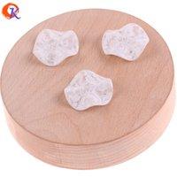 acryl rosenblüten perlen großhandel-großhandel 27mm 100 stücke acryl perlen / schmuck machen / weiße rose druck auf perle / flower form perle / print perlen / ohrring erkenntnisse