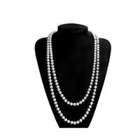siyah kostüm kolyeleri toptan satış-Great Gatsby Bekarlığa Veda Partisi Kostüm Aksesuarları Tüy Kolye Eldiven Kostüm Sequins Siyah Kırmızı Lüks Moda Dekoratif Takım