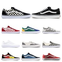 Wholesale mens shoe casual for sale - Group buy Van Original old skool MIx Checker OTW REPEAT FEAR OF GOD CHECKERBOARD canvas mens sport sneakers fashion casual shoes
