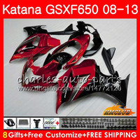 Wholesale gsxf fairings resale online - Body For SUZUKI KATANA GSXF GSXF HC GSXF650 stock red hot GSX650F Fairings