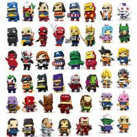figuren rächer schwarze witwe großhandel-Avengers 4 Dragonball Building Block Action-Figuren Puzzle Hulk Superman Spiderman Ironman Minifigur Black Widow Dead Kinderspielzeug