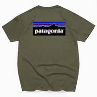 bergmann t-shirts großhandel-Männer Frauen Designer T Shirts Sommer Baumwolle Mode Lässig Berg Brief Gedruckt Hip Hop Kurzarm T-Shirt