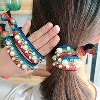цветные кольца оптовых-Новые красивые аксессуары для волос высокой эластичностью резинкой голову веревку волос кольцо цветные завязывают шпилька руки бисером Бесплатная доставка