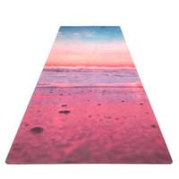 colchonetas de yoga de calidad al por mayor-Patrón de moda yoga fitness mat calidad salud antideslizante suede rubber mat Travel Sport Fitness yoga pilates mat 183 * 61cm * 3.5mm ZZA867