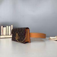 Wholesale fanny pack purse leather for sale - Group buy Brand Waist Bag Unisex fanny pack Genuine Leather Waist Men women Chest bag Men top quality backpack handbags purses Belt Waist Bag