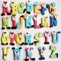 Wholesale z magnets for sale - Group buy Educational Toy A Z Letters Alphabet Wooden Fridge Magnet Baby Kids Educational Wall Stickers