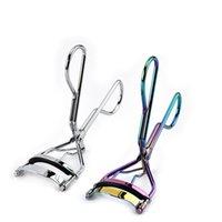 herramientas de una pieza al por mayor-Protable Colorido Pestañas Rizador Pinzas Curling Eye Lashes Clip Herramienta de Maquillaje de Belleza Cosmética One Piece LJJR444