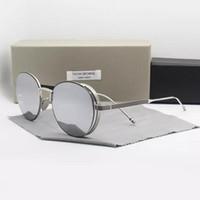 солнцезащитные очки uva uvb оптовых-НОВЫЕ солнцезащитные очки марки Alloy Thom TB106 UVA / UVB защитадекорация для мужчин и женщин Мода с оригинальным чехлом óculos