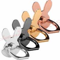 mobiler fingergriff großhandel-telefon griff handyhalter kaninchen metall 360 grad finger ring halter stander handy halterung für iphone samsung