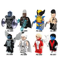 Wholesale wolverine gifts for sale - Group buy PG8019 Super Heroes X Man Angel Apocalypse Wolverine Daken Archangle Magneto Nightcrawler Toys for children Gift