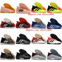 zapatos de fútbol superior al por mayor-2018 de calidad superior para hombre botines de fútbol Predator Tango 18+ TF IC tobillo zapatos de fútbol tango 18 botas de fútbol de interior scarpe calcio barato