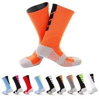 erkek diz yüksek çorap toptan satış-Erkekler Havlu Alt Basketbol Eğitim Çorap Nefes Anti Kayma Futbol Sürme Spor Diz Yüksek Erkek Sıkıştırma Çorap