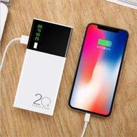 carregador de banco de energia alta qualidade venda por atacado-2020 portátil 24000mAh Power Bank 3 USB LED Light carregador de bateria de backup iPhone Para X 11 MAX Samsung alta qualidade