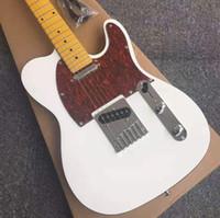 tiendas de guitarra china al por mayor-hermoso cuerpo de la guitarra eléctrica Nueva TL blanco vinculante china guitarra de arce cuello Personalizado en stock Negro