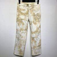 хлопок спандекс летние брюки женщины оптовых-High Quality Runway Fashion Printed Pencil Pants Spring Summer Fashion Cotton Spandex Mid Waisted Women Trousers Jeans