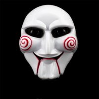 Wholesale horror puppet resale online - Halloween Party Cosplay Saw Puppet Mask Popular Masquerade Costume Billy Jigsaw Props Masks Festive Atmosphere Supplies