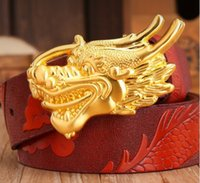 hombres cinturones china al por mayor-2018 nueva correa de cuero del grifo de los hombres personalidad de los animales faucet moda suave hebilla cinturón de estilo chino cinturón de tendencia juvenil