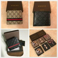 Wholesale men bags for sale - Group buy 2020 new L bag billfold High quality designer Plaid pattern women wallet men pures high end luxury s designer wallet with box