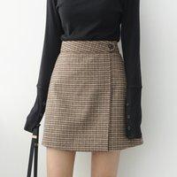 Wholesale high waist petticoats for sale - Group buy Woman Skirts Woman Pencil Skirt Lolita Bodycon Sexy Winte High Waist Vintage Petticoat Lattice Plaid Skirt Woolen