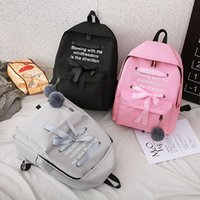 Wholesale campus pack for sale - Group buy Casual Bow Letter Print Backpacks For Women Campus Student Girls Schoolbag Large Capacity Harajuku Ladies Travel Back Pack New
