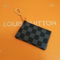 Wholesale leather hunting pouch for sale - Group buy 4 color KEY POUCH Damier leather holds high quality famous classical designer women key holder coin purse small leather goods bag