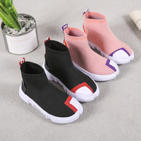 calcetines voladores al por mayor-Ulknn Boys Sport Shoes 2018 New Spring Children Flying Sneakers Girls High Top Calcetines Sneakers Kids Transpirable Soft Running Shoes MX190727