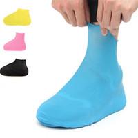 bottes de moto bleues achat en gros de-1 paire de chaussures en caoutchouc anti-dérapantes imperméables, bottes de pluie réutilisables pour vélo de moto, bleu jaune pour hommes Womensui0057