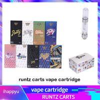 e zigarettenölpatrone großhandel-Neueste Runtz Vape Cartridges Carts Verpackung 9 Geschmacksrichtungen für Option E Zigarette leeren Stift 0,8 ml 1,0 ml Ölpatrone Vaporizer 510 Zerstäuber