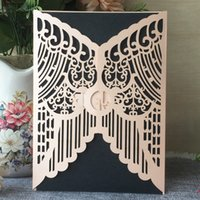 Wholesale 3d house card resale online - 25Pcs D Design Exquisite Wedding Invitation Card Sweet Envelop Engagements Invitations Cards Gift Card Greeting Cards