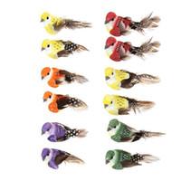 künstliche tiere heimdekorationen großhandel-12 teile / satz Simulation Feder Vögel Modelle Gefälschte Künstliche Schaum Tier Hochzeit Hausgarten Ornament Miniatur Dekoration C19041501
