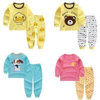 ingrosso i bambini pigiama stella-MUQGEW New Fashion Child Kid Baby Boys Girls Cartoon Duck Dear Dog Star Leisure Pajamas Outfit Set