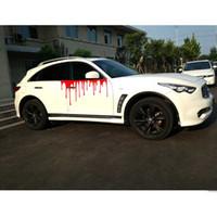 Wholesale car side graphics resale online - Blood Drop Car Graphic Decorative Glass Car Sticker Bloody Side Door Decals