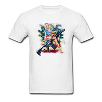 en iyi seks erkekleri toptan satış-Seksi Rus Lady Asker Serin T Shirt Erkek Seks Arms Büyük Silah T-shirt Güzel En Iyi Hediye Kişiselleştirilmiş Tshirt Yapmak Kendi Pin Up T Gömlek