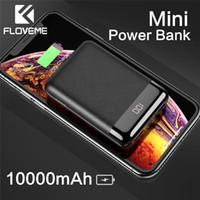 Wholesale iphone digital resale online - FLOVEME Power Bank mAh Mini Portable LED Digital Display Dual USB Ports Powerbank External Mobile Battery For iPhone Charge