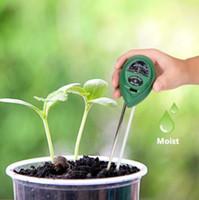 medidor de humedad de la planta probador al por mayor-3 en 1 Medidor de humedad del medidor de humedad de humedad de agua del suelo de alta calidad para la herramienta de prueba de flor de planta de jardín
