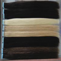 ingrosso estensioni dei capelli nastro biondo-Commercio all'ingrosso nastro in estensioni dei capelli umani colori di trama della pelle capelli biondi remy da 16 a 24 pollici 20 pz / borsa, 40 g, 50 g, 60 g spedizione gratuita
