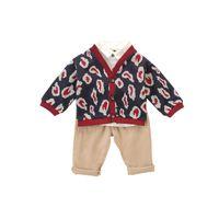 Wholesale boys three piece suits resale online - boys suits baby boy clothes baby infant boy clothes cardigan trousers boys designer clothes retail A8158