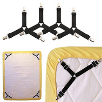 Wholesale set tablecloth for sale - Group buy 4PCS set Bed Sheet Clips Grippers Strap Suspender Fastener Holder for mattress pads tablecloths ironing board covers slipcovers