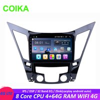 Wholesale android car dvd hyundai resale online - COIKA Core Android System Car dvd Touch Radio Player For Hyundai Sonata I40 I45 I50 BT G RAM WIFI G GPS Zlink SWC