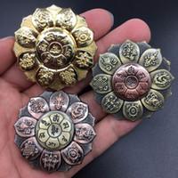 fábrica de lótus venda por atacado-Novo 2019 Spinners de dedo Buddha Eye Lotus Bronze Finger Finger Spinners Meditação budista Meditação Buddha Factory Wholesale 11