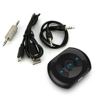 Wholesale car bluetooth mm resale online - Hot mm Bluetooth Music Receiver Portable Wireless Bluetooth AUX Audio Receiver Adapter for Stereo Speaker car