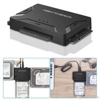 ide sabit disk çevirici toptan satış-Siyah USB IDE SATA Adaptörü USB3.0 SATA / IDE Harici Sabit Disk Sürücüler SATA Combo Converter 2.5 / 3.5 inç Optik Sürücü HDD SSD