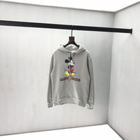 Wholesale computer models for sale - Group buy 19SS Italian autumn and winter latest explosion models mouse print popular high quality tops fashion top wild gray hooded sweatshirt