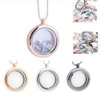 Wholesale transparent charm locket for sale - Group buy floating locket DIY Jewelry transparent glass frames floating charm lockets pendants J215