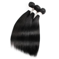 Wholesale indian human hair weft silky for sale - Group buy Kiss Hair Black Color inch Raw Virgin Indian Silky Straight Hair Weave Brazilian Malaysian Peruvian Human Hair Weft