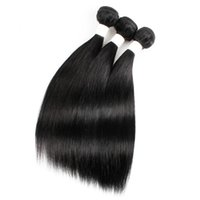 jungfrau peruanischen haaren 28 zoll schwarz großhandel-Kuss-Haar-Schwarz-Farbe 10-22 Zoll roher Jungfrau-Inder-seidiges glattes Haar-Webart-brasilianischer malaysischer peruanischer Menschenhaar-Einschlagfaden