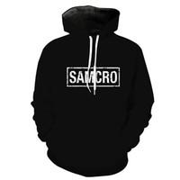 uzun kollu kafatası hoodies toptan satış-Erkekler Hoodie SAMCRO Kafatası 3D Grafik Tam Baskılı Adam Kapşonlu Sweatshirt Unisex Rahat Kazak Hoodies Uzun Kollu Tişörtü Tops (R0512)