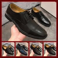 Wholesale New Microfiber Leather Men Dress Shoes Pointed Toe Bullock Oxfords Shoes For Men Lace Up Designer Luxury Men Size
