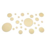espelho de círculo 3d venda por atacado-Decoração acrílica da arte das etiquetas da parede do espelho do círculo 3D