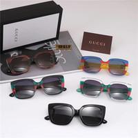 солнцезащитные очки мульти линзы оптовых-2019 горячие продажи модный бренд дизайнер солнцезащитные очки для женщин случайные открытый модные солнцезащитные очки многоцветные поляризованные линзы